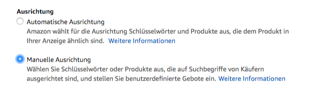 Amazon Sponsored Products - Manuelle Ausrichtung-1