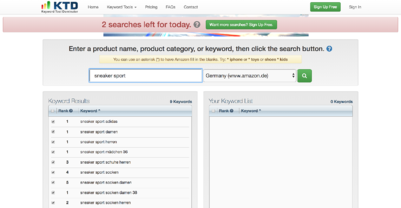 Keyword Tool Dominator Screenshot